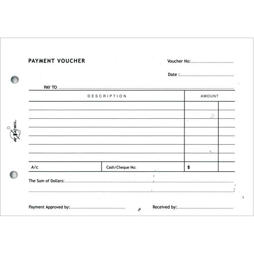 Payment Voucher Pad of 50